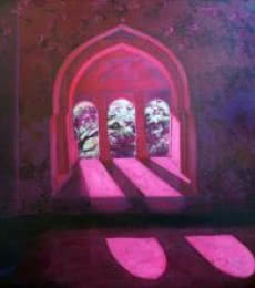 Tushar Patange | Acrylic Painting title Window 01 on Canvas | Artist Tushar Patange Gallery | ArtZolo.com
