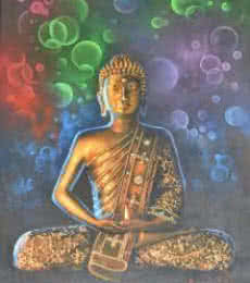 Kamal Rao | Oil Painting title Buddha Bronze on Canvas