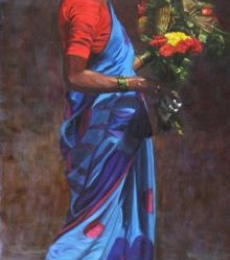 Modesty | Painting by artist Vivek Vadkar | oil | Canvas
