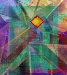 Homage To The Pixel - 30x24 | Mixed_media by artist Mario Castillo | digital art
