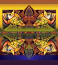 Mario Castillo | Pack Of Wolves 20x24 Mixed media by artist Mario Castillo on digital art | ArtZolo.com