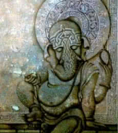 Mohd. Shakeel Saifi | Mixed-media Painting title Ganesha With Blessings on Canvas | Artist Mohd. Shakeel Saifi Gallery | ArtZolo.com