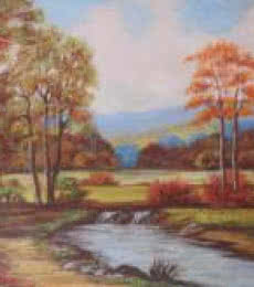 Landscape Oil Art Painting title 'Landscape' by artist Kaladikam Arts