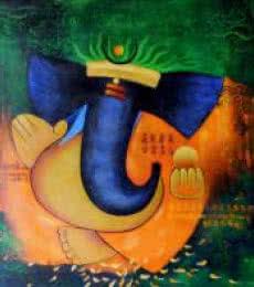 Vignaharta | Painting by artist Kaladikam Arts | acrylic | Canvas