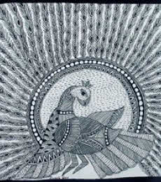 Nature Acrylic Art Painting title 'Peacock' by artist Preeti Das