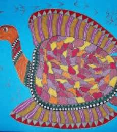 Motivational Acrylic Art Painting title Tortoise by artist Preeti Das