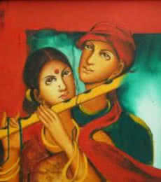 Couple In Love | Painting by artist Monica | acrylic | Canvas