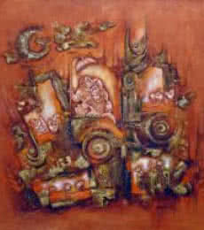 Ethenic Art | Painting by artist Suman Dongre | acrylic | Canvas