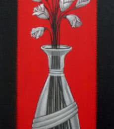 Flower Vase | Painting by artist DM Ajankar | acrylic | Canvas