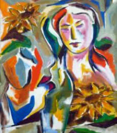 Figurative Acrylic Art Painting title 'Homemaker' by artist Swami
