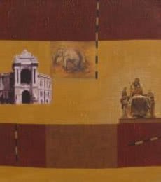 Indian Monument Wall I | Painting by artist Sanjay | acrylic | Canvas