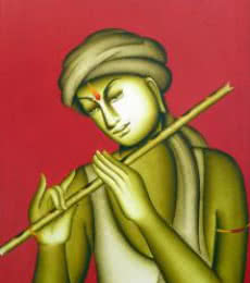Krishna | Painting by artist Monica | acrylic | Canvas