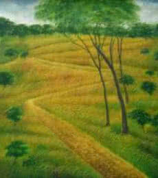 Nature Walk | Painting by artist Sadre Alam | acrylic | Canvas