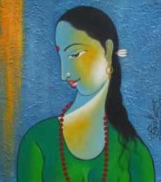 Radha I | Painting by artist Shivkumar | acrylic | Canvas