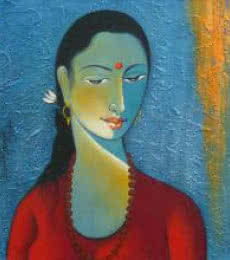 Radha II | Painting by artist Shivkumar | acrylic | Canvas