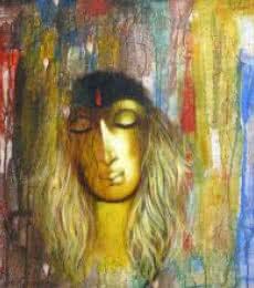 Figurative Acrylic Art Painting title 'Shades Of Woman' by artist Manoj Aher