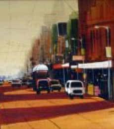 Ekta Singha | Acrylic Painting title Street View on Canvas | Artist Ekta Singha Gallery | ArtZolo.com