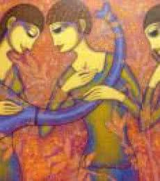 The Musicians   Painting by artist Prakash Deshmukh   acrylic   Canvas