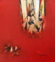 The Red Abstract   Painting by artist Surendra Kudapane   acrylic   Canvas