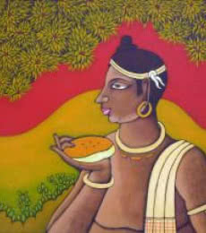 Figurative Acrylic Art Painting title Tribal Man by artist Suhas