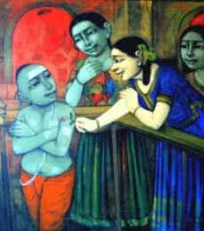 Little Love | Painting by artist Apet Pramod | acrylic | Canvas