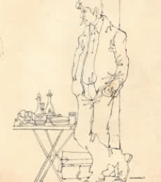 Mario Miranda Original B172 | Drawing by artist Mario Miranda |  | Pen&Ink | Paper