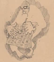 Mario Miranda Original B 182 | Drawing by artist Mario Miranda |  | Pen&Ink | Paper