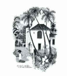 Mario Miranda | Pen-ink Painting title Sao Pedro Church (1982) on Paper | Artist Mario Miranda Gallery | ArtZolo.com
