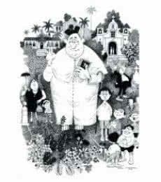 Parish Preist (1965) | Painting by artist Mario Miranda | other | Paper