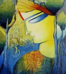 Figurative Acrylic Art Painting title 'Expression of Love' by artist NITU CHHAJER