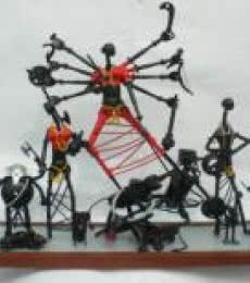 Durga | Sculpture by artist Uttam Manna | Iron
