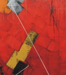 Abstract Oil Art Painting title 'Untitled 71' by artist Sudhir Talmale