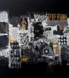 Sheetal Singh | Acrylic Painting title City Too Busy on Canvas | Artist Sheetal Singh Gallery | ArtZolo.com