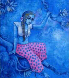 Ramchandra B Pokale | Acrylic Painting title Branch And Sway on Canvas | Artist Ramchandra B Pokale Gallery | ArtZolo.com