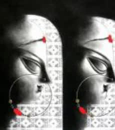 Devi - 13   Drawing by artist Uttara Joshi      charcoal   Paper