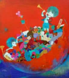 The treasure of childhood | Painting by artist Shiv kumar soni | acrylic | Canvas
