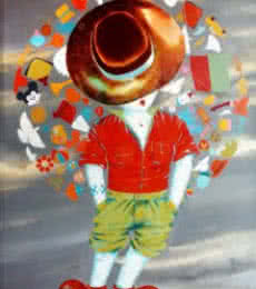 Shiv Kumar Soni | Acrylic Painting title The aureole of childhood on Canvas | Artist Shiv Kumar Soni Gallery | ArtZolo.com