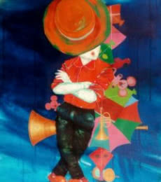 The passion of childhood | Painting by artist Shiv Kumar Soni | acrylic | Canvas