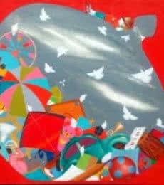 Realistic Acrylic Art Painting title The treasure of childhood ii by artist Shiv Kumar Soni