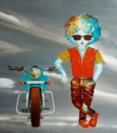 Figurative Acrylic Art Painting title 'The passion of childhood ii' by artist Shiv Kumar Soni