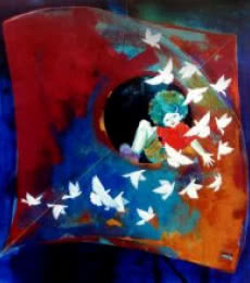 Lifestyle Acrylic Art Painting title 'Passion Of The Childhood Vi' by artist Shiv Soni