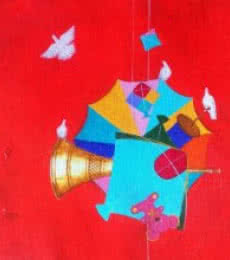 Still-life Acrylic Art Painting title 'Treasure Of The Childhood Vi' by artist Shiv Soni