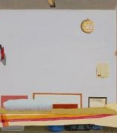 Dream Bed | Painting by artist Goutam Pal | acrylic | Canvas