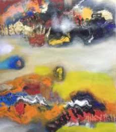 Colorful Abstract I | Painting by artist Deepak Guddadakeri | acrylic | Canvas