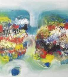 Colorful Abstract II | Painting by artist Deepak Guddadakeri | acrylic | Canvas