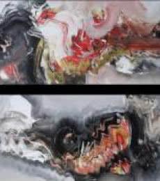 Abstract Acrylic Art Painting title Shakti by artist Deepak Guddadakeri