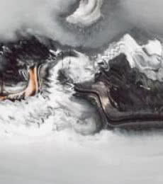 Grey Abstract I | Painting by artist Deepak Guddadakeri | acrylic | Paper