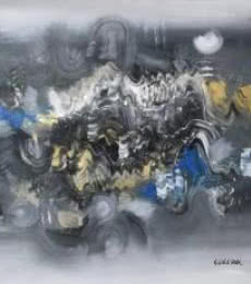 Grey Abstract II | Painting by artist Deepak Guddadakeri | acrylic | Canvas
