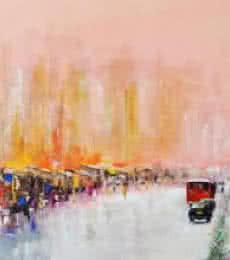 Mind The Gap   Painting by artist Tejinder Ladi  Singh   acrylic   Canvas