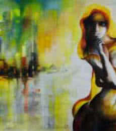 Tejinder Ladi Singh Paintings | Oil-pastel Painting - Staring Into The Void 4 by artist Tejinder Ladi Singh | ArtZolo.com